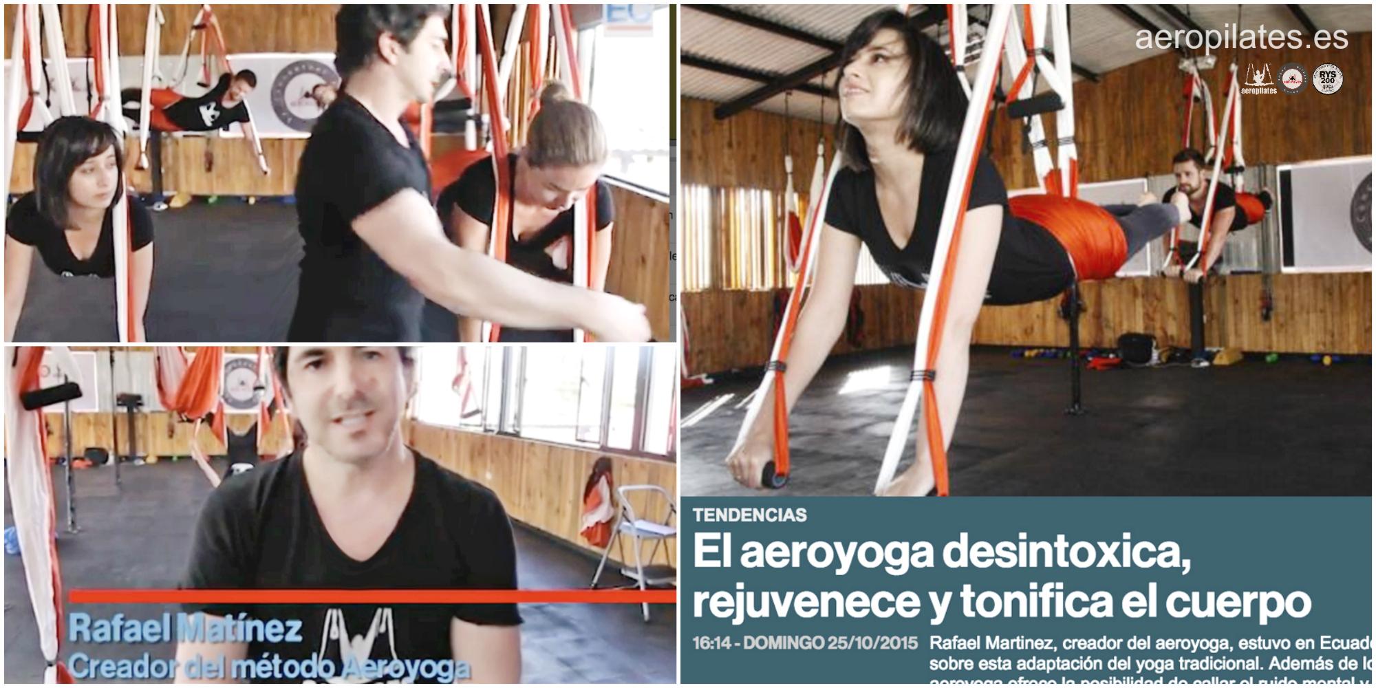 Bases del AeroYoga®, Entrevista  TV a Rafael Martinez en el Comercio de Ecuador