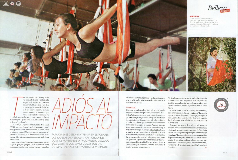 AeroYoga® by Rafael Martinez en Revista 'Luz'. Tendencias Ejercicio en Argentina.