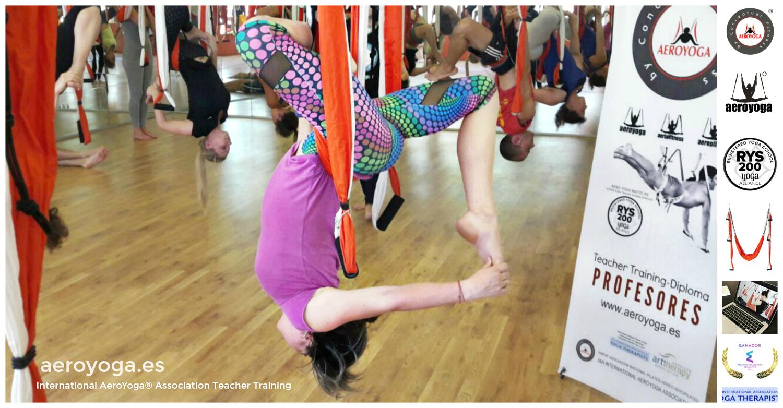En Directo! Madrid Yoga Aéreo, Ya Comenzó Nueva Formación AeroYoga® & AeroPilates® International