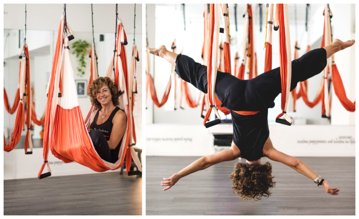 Aerial Yoga. Around-The-World with AeroYoga®: Ibiza, Spain