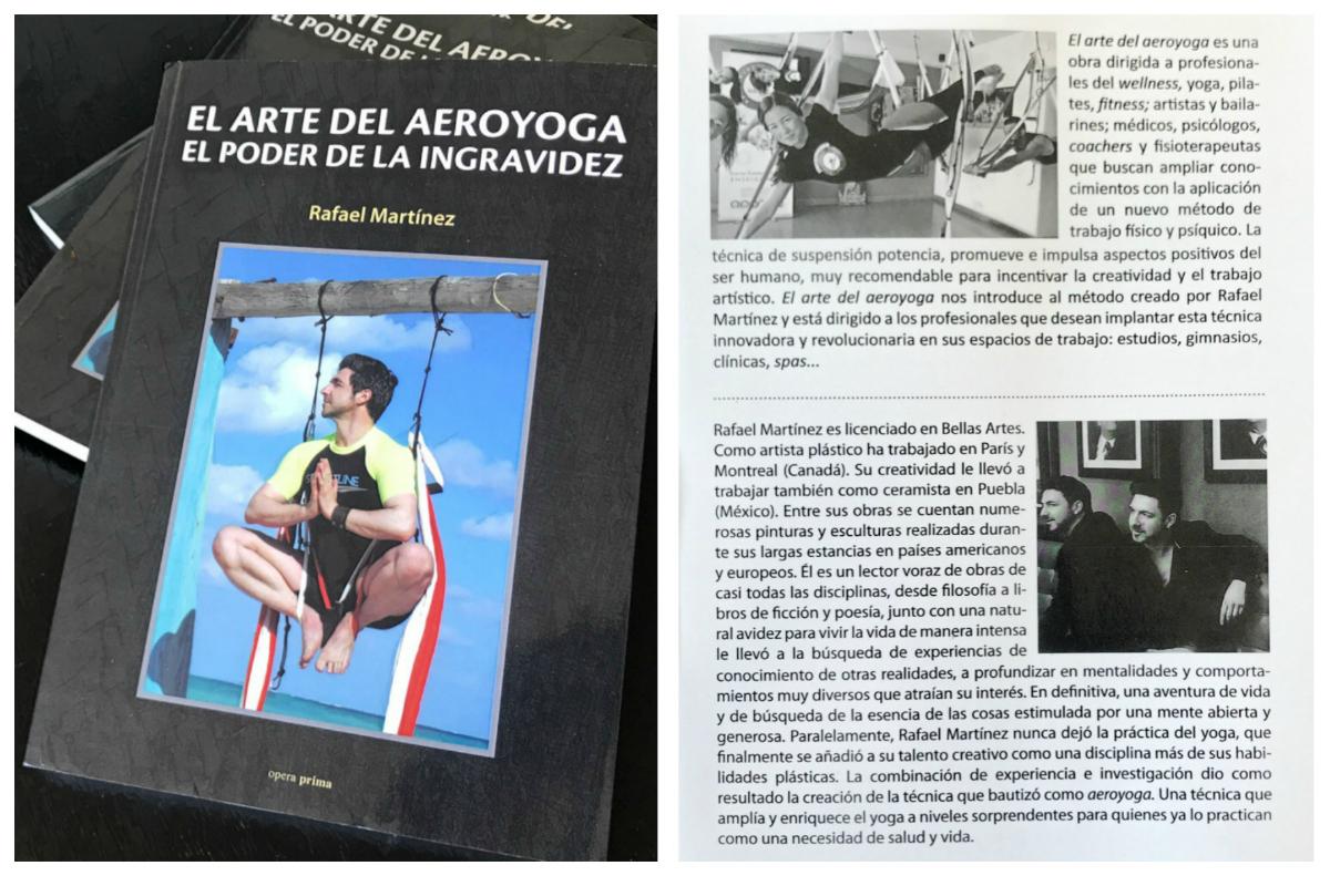 Ya salió Publicado el Libro de Rafael Martinez «El Arte del AeroYoga»