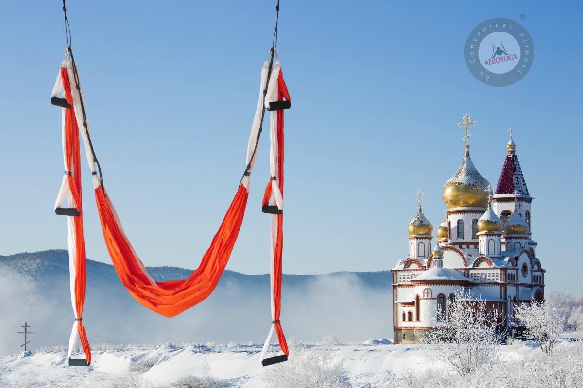 Inauguración Centro AeroYoga® en Siberia, La Vuelta al Mundo del AeroYoga.
