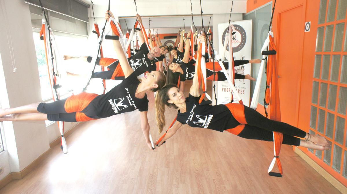 Yoga Aéreo España, AeroYoga® Inaugura 2020 con Cursos en Madrid, Barcelona, Valencia…