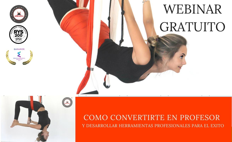 Te invitamos al Webinar Gratuito AeroYoga®, Herramientas para el Éxito