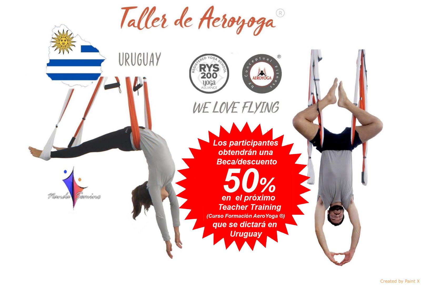 🇺🇾 Taller Introducción al Aeroyoga®! Uruguay Días 14 ó 15 Abril