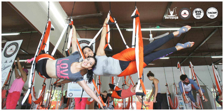 Qué es el AeroYoga Acrobático? El Yoga Aéreo dedicado a la destreza y la propiocepción