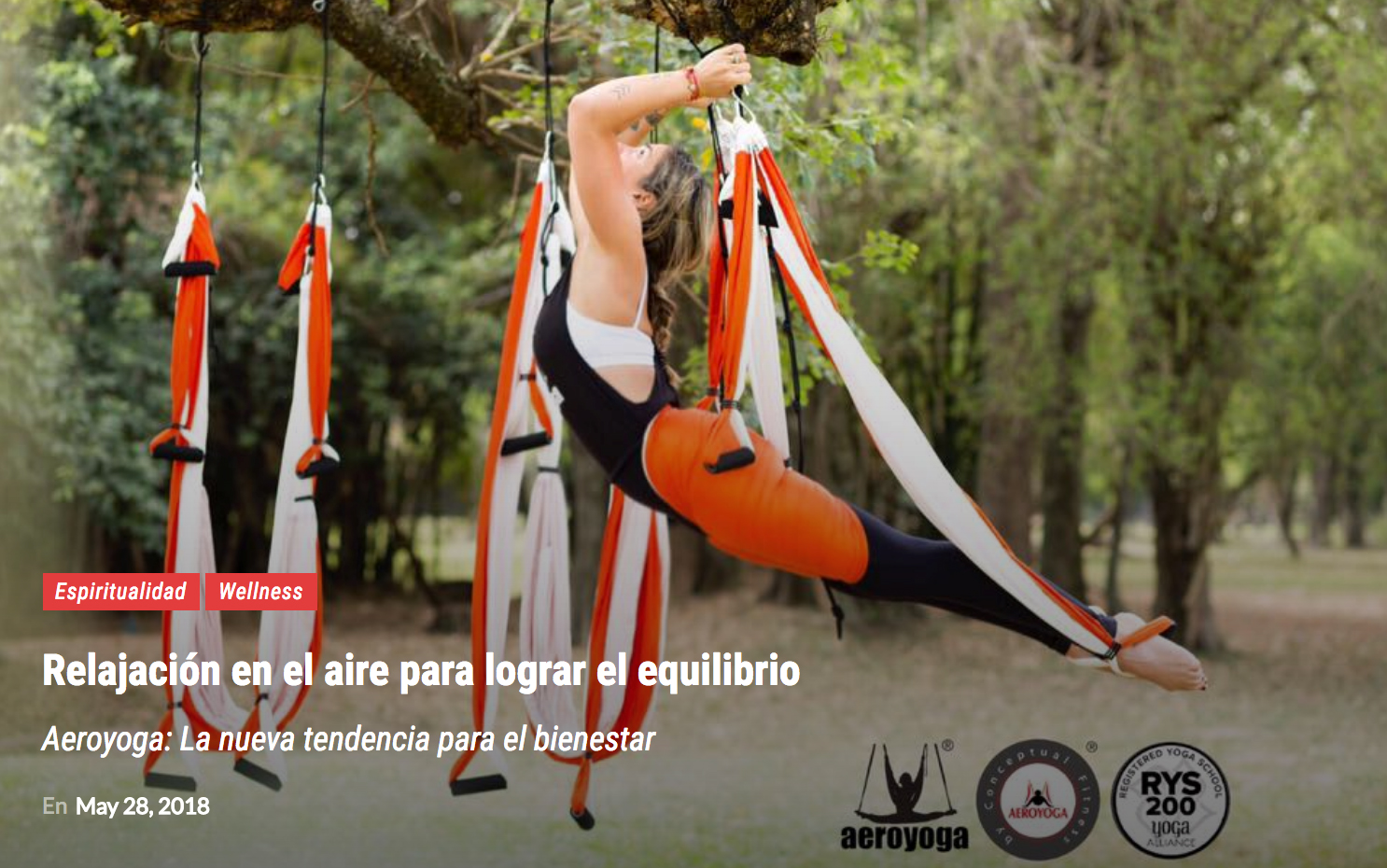 Tendencias Fitness: Método Aero Yoga International en Prensa