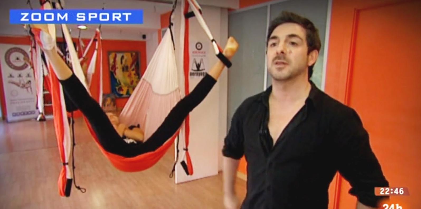 Método AeroYoga ® en Televisión con Rafael Martinez