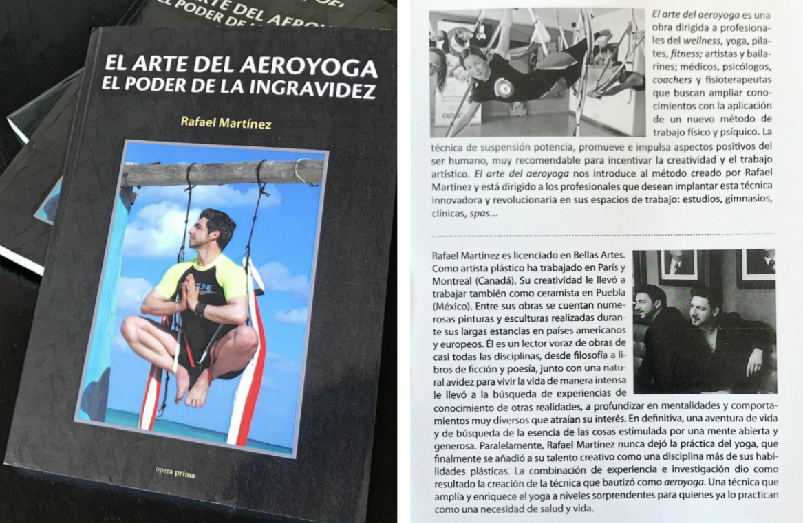 Rafael Martinez Presenta su Nuevo Libro: El Arte del AeroYoga