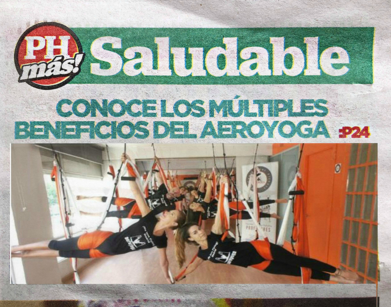 Método AeroYoga ® en Prensa! Beneficios del Yoga Aéreo