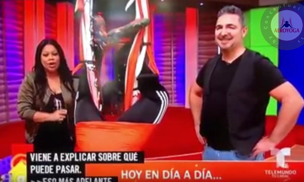 Yoga Aéreo, Rafael Martínez en la Televisión de Puerto Rico