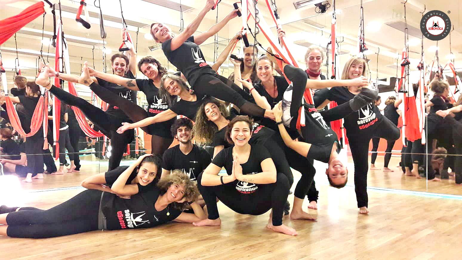 Yoga Aéreo, Ha Terminado en Madrid Nueva Formación Profesores AeroYoga y AeroPilates ®