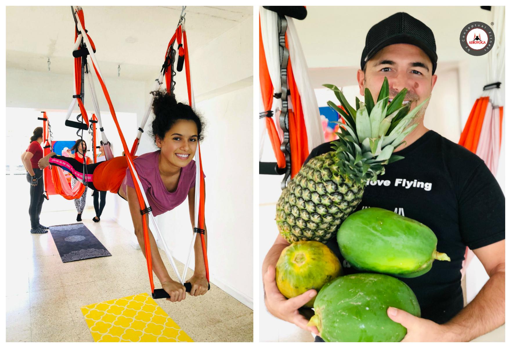 Ven a la Experiencia AeroYoga® en la Casa de la Ceiba, Puerto Rico.  Elige entre los dias 30 ó 31 de Marzo y Vuela!