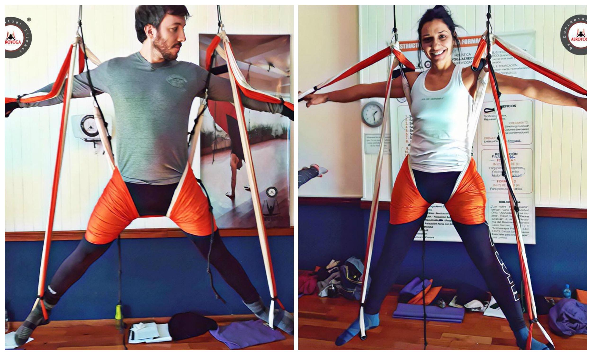 Yoga Aéreo, Descubre Hoy la Postura del Vitruvio con AeroYoga ®