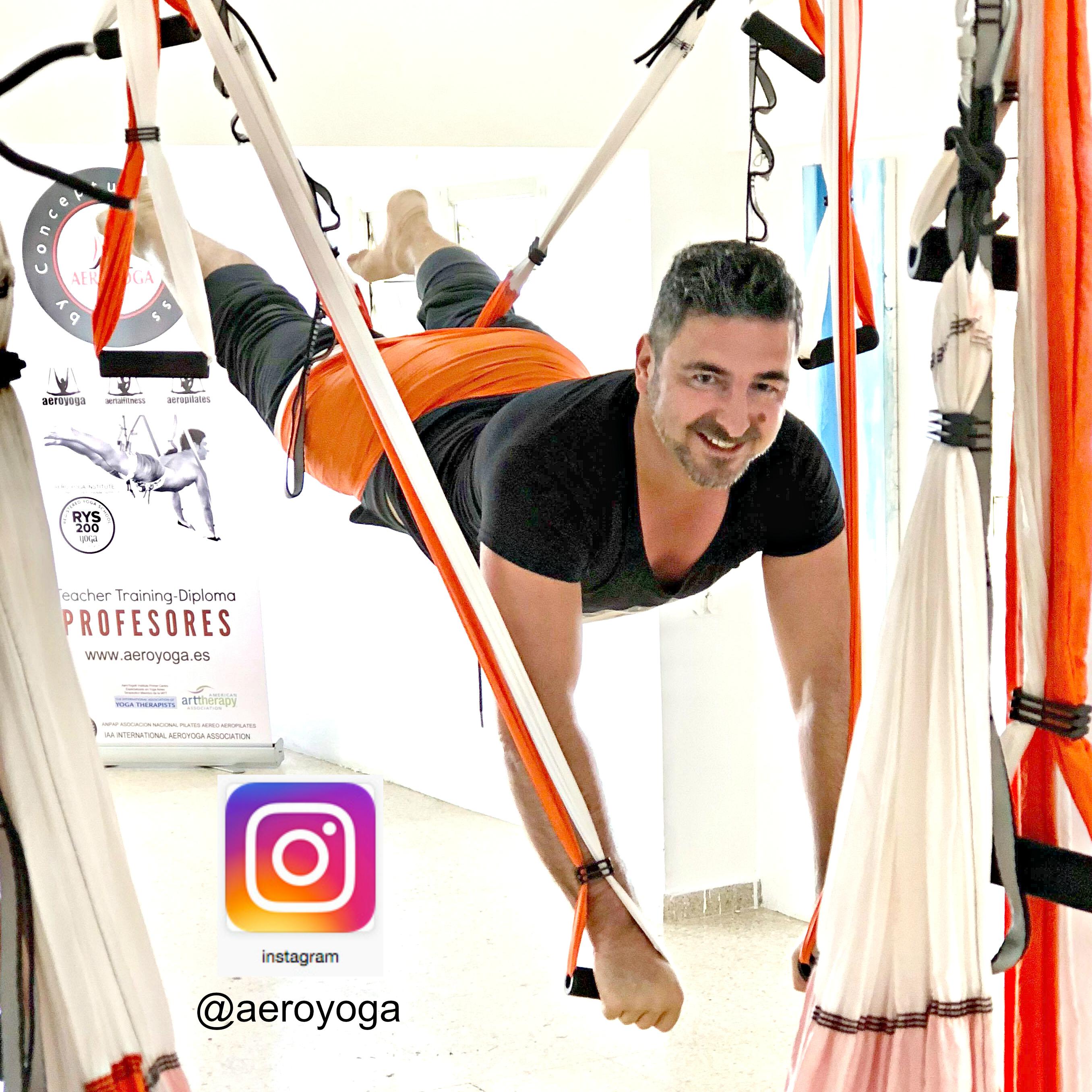 Certificación Yoga Aéreo, Postura Aérea del Peter Pan con AeroYoga ® International