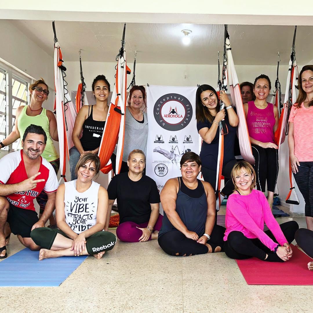 Yoga Aéreo, Descubre Nueva Experiencia Aérea en el AeroYoga ® Institute de Puerto Rico