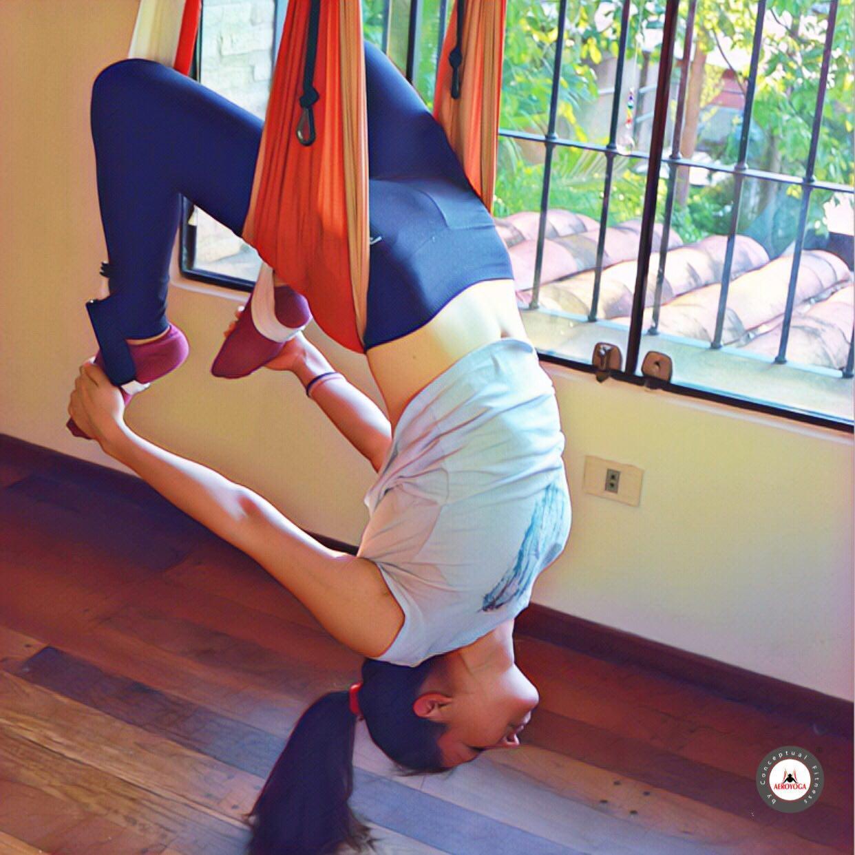 Formación Yoga Aéreo: Ejercicio del Vaihayasa Chakrasana, Salud y Bienestar