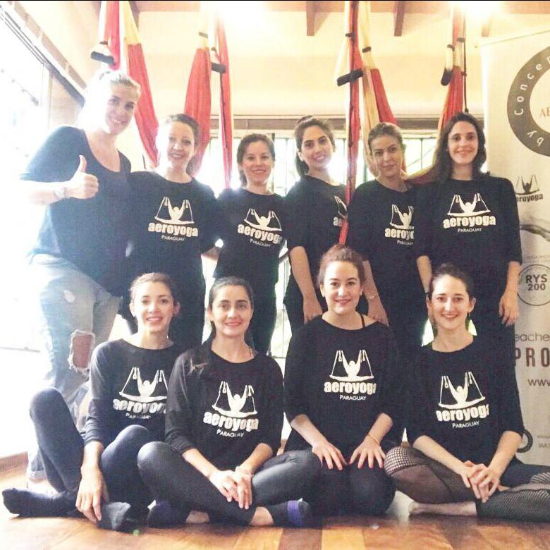 Yoga Aéreo, Junio 2019, Formación Profesores AeroYoga® en Paraguay