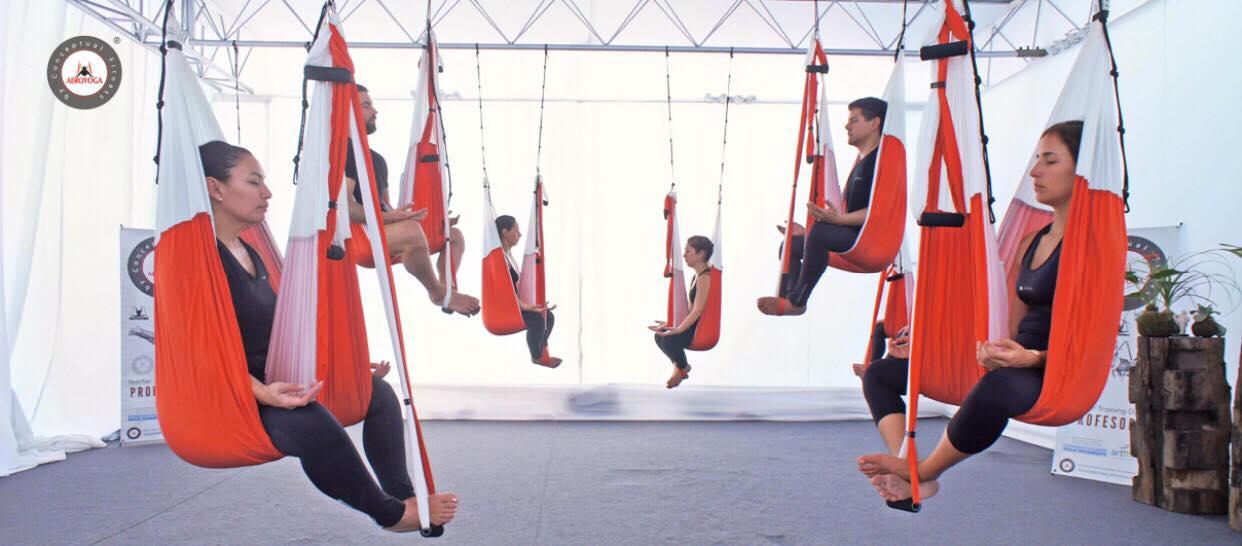 Yoga Aéreo, Ejercicios de Meditación y Yoga Nidra Anti Estrés con AeroYoga ® International