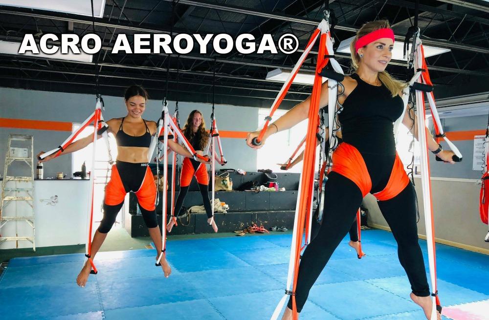 Certificación Yoga Aéreo, Postura en Grupo con AeroYoga ®