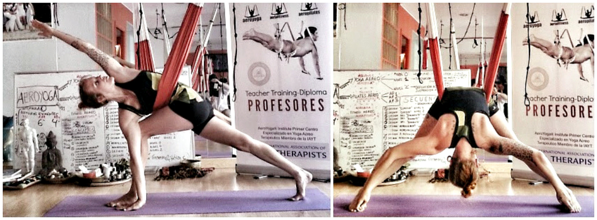 Air Yoga, Descubre con AeroYoga ® International las Variaciones y Ejercicios del Triángulo, Trikonasana