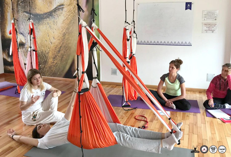 Argentina, Profesorado Yoga Aéreo, Pilates Aéreo, Fitness Aéreo en Buenos Aires con AeroYoga ® Institute