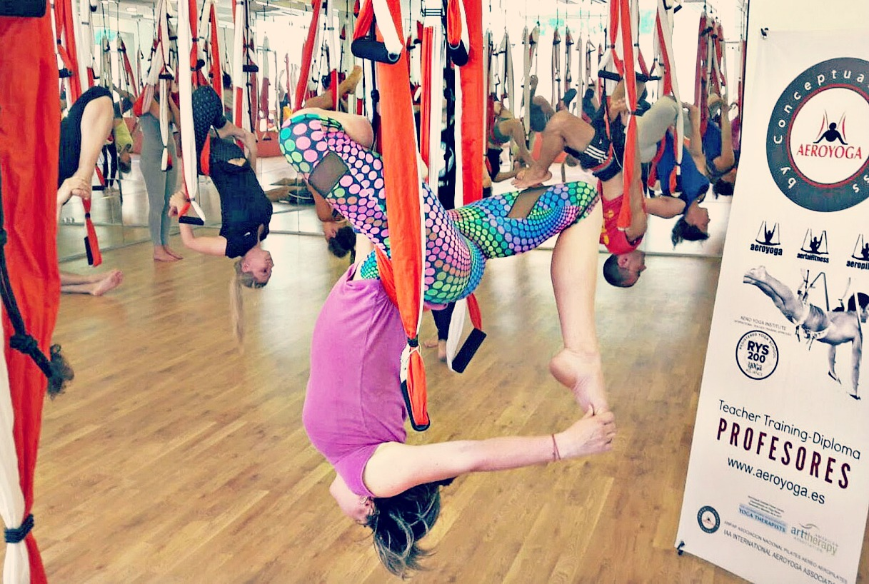 Formación Yoga Aéreo España, Próximos Cursos AeroYoga®, Pilates , Fitness en Madrid