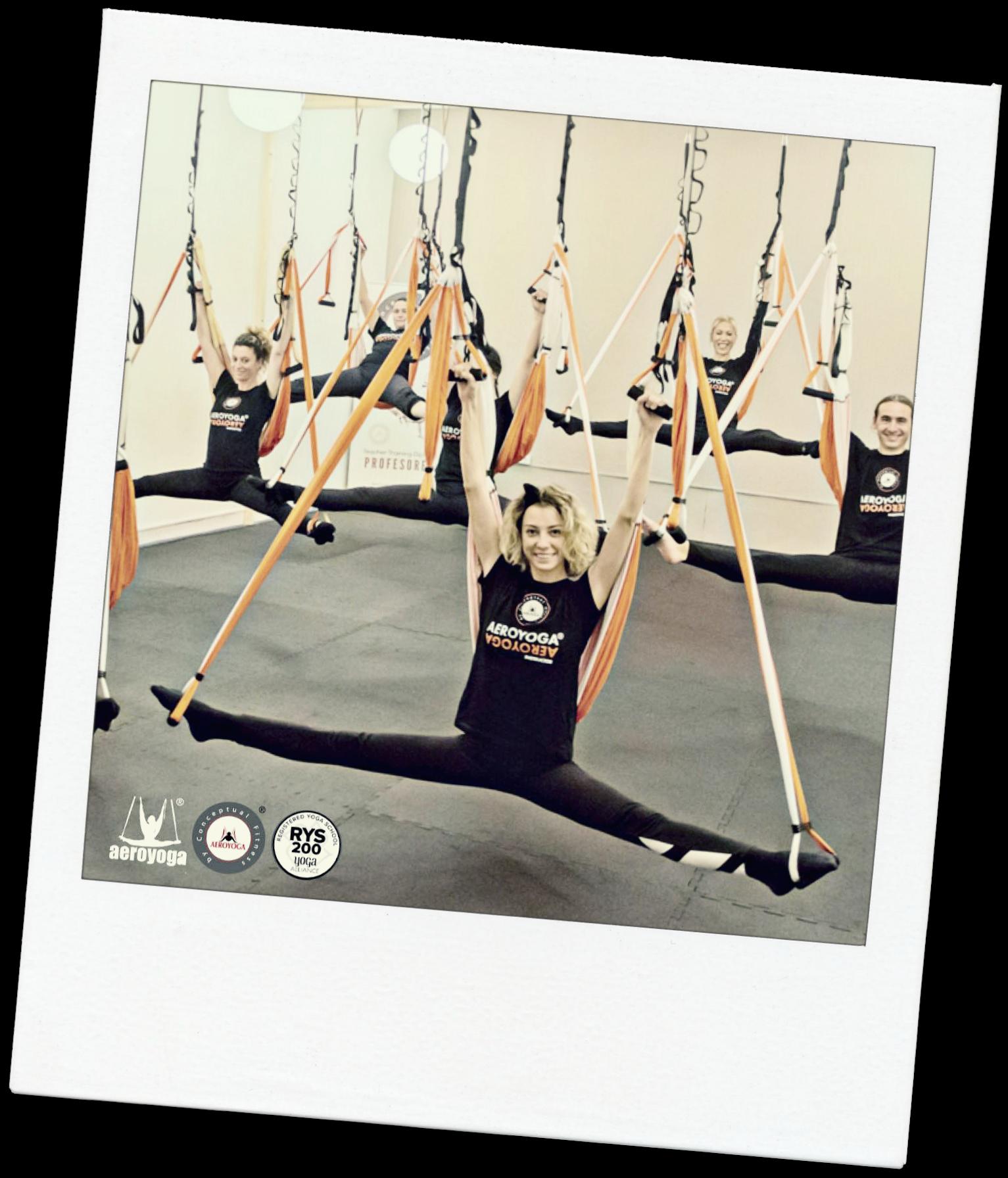 Formation Yoga Aérien en Ligne avec les Cours AeroYoga ® et AeroPilates ®