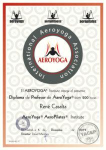 diploma yoga aéreo