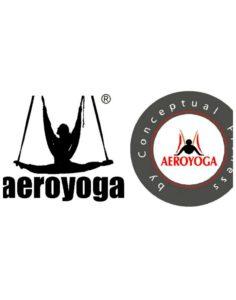 logo aeroyoga yoga aéreo latino américa