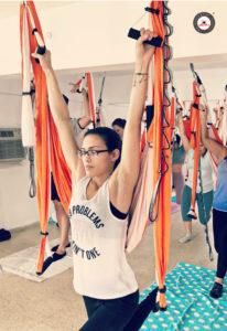 clase aero yoga dolor de espalda