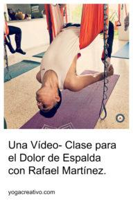 yoga aéreo clase dolor espalda