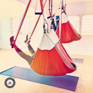 meditación yoga aéreo