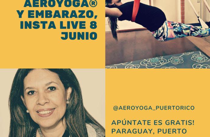 Yoga Aéreo, Charla con Marta Cabrera, Obstetra, el Lunes 8 Junio 2020 por el Live de Instagram