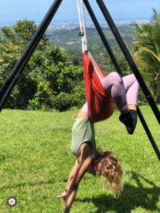 clase yoga aéreo
