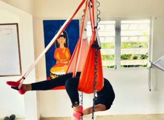 Yoga Aéreo, Una Clase de Aero Fitness en el AeroYoga ® Institute