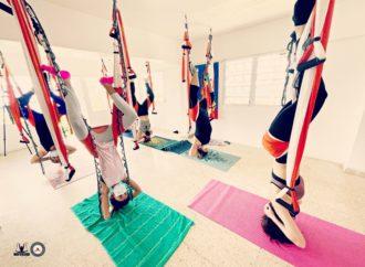 Yoga Aérea Puerto Rico, Clases AeroYoga ® en la Naturaleza los Fines de Semana en Trapecio