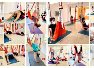Yoga Aéreo en Navidad en la Casa de la Ceiba, Puerto Rico, Yoga en Trapecio, Descubre el Columpio AeroYoga ®