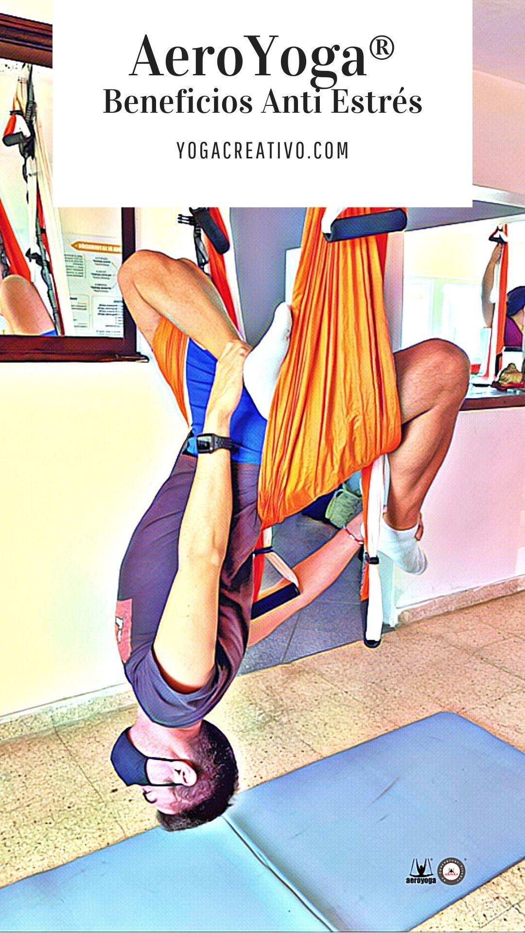 yoga aéreo anti estrés