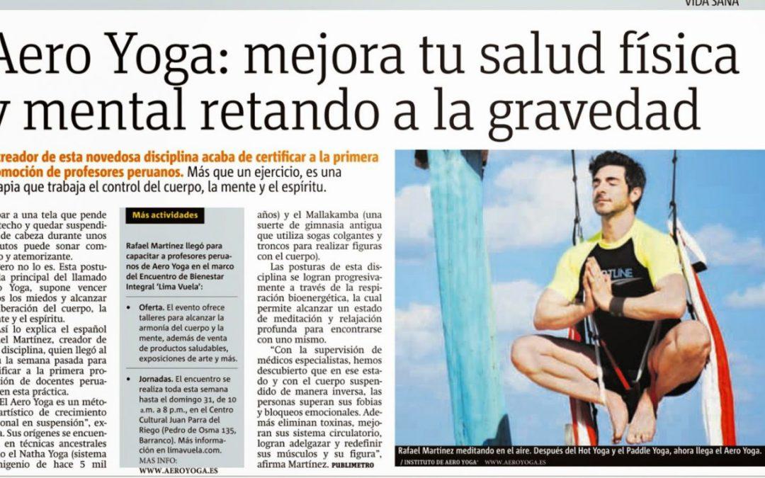 Tendencias, Entrevista con Rafael Martínez. Mejora tu Salud con AeroYoga®